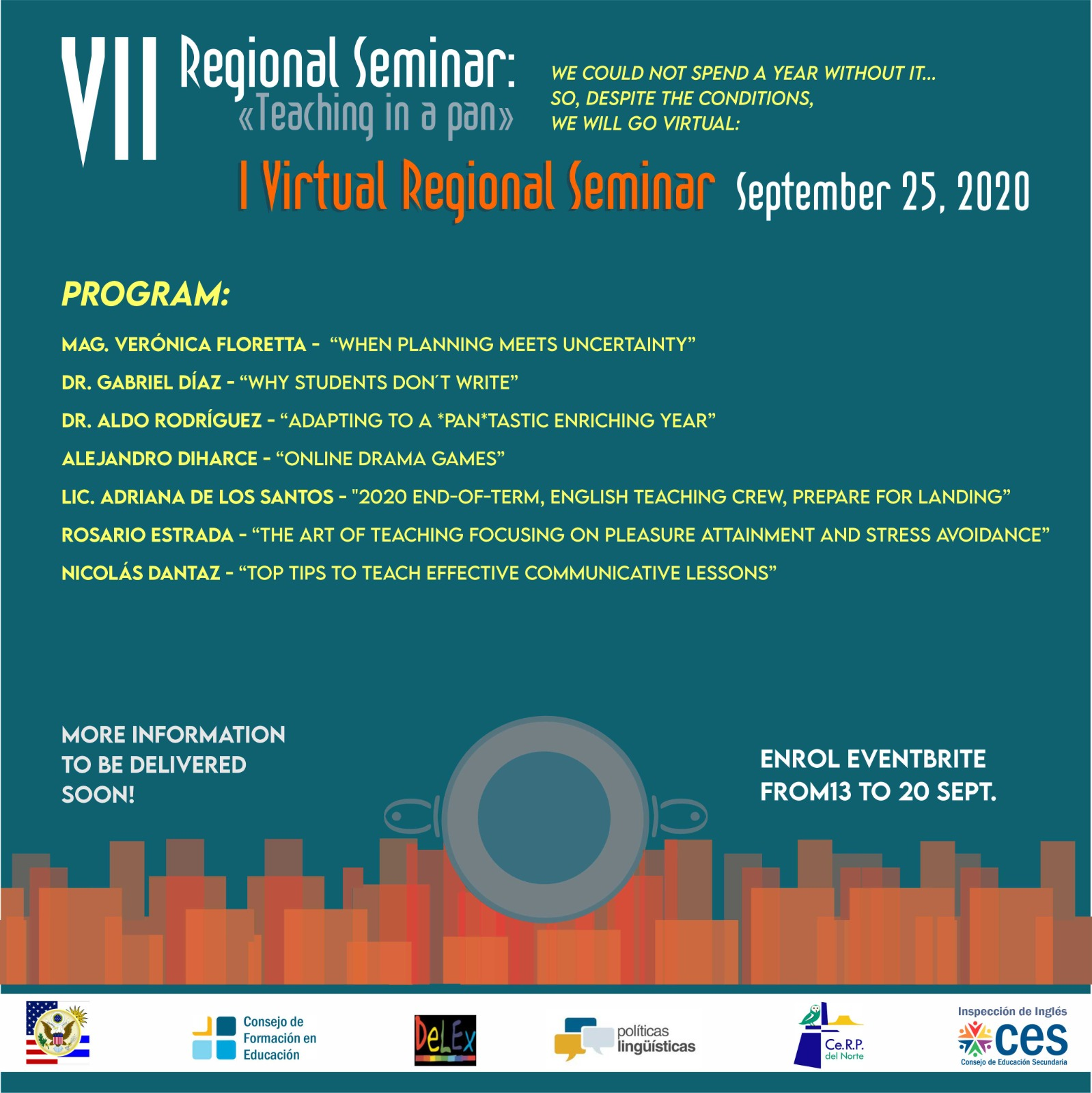 "VII Seminario Regional ""Teaching in a pan"" - I Seminario Regional Virtual"